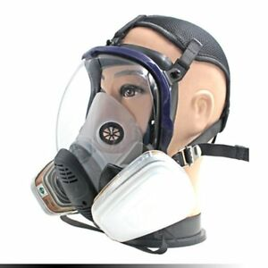 7pcs set Full Face Respirator Gas Mask Chemical Safety Mask With 3m Cartridge Ec