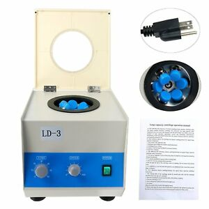 New 6 50ml Ld 3 Electric Benchtop Centrifuge Lab Medical Practice 4000rpm Usa