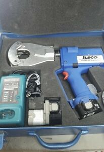 Ilsco Idtb 6 Battery Powered Cable Crimper Dieless Quad Point Crimping Tool