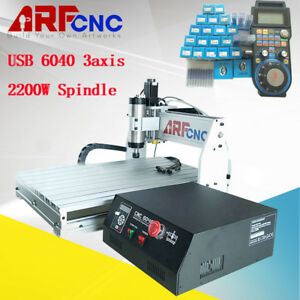 4 Axis Cnc 6040 Desktop Router Engraver Milling Machine Engraving Drilling 2 2kw