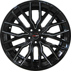 4 Gwg 20 Inch Staggered Black Mill Flare Rims Fits Mitsubishi Evo X Widebody