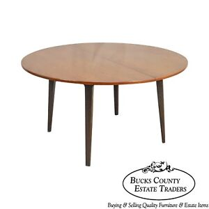 Dunbar Edward Wormley Mid Century Modern 54 Cherry Walnut Dining Table