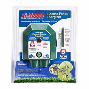 Battery operated Electric Fence Garden Pet Protecting Energizer 5 Acre Coverage