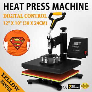 12 x10 Heat Press Machine Transfer Sublimation Swing Away Digital T shirt Diy
