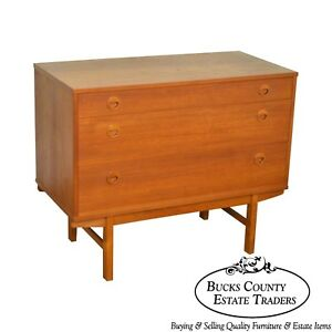 Dux Swedish Danish Modern Style 3 Drawer Teak Chest By Yngve Ekstrom
