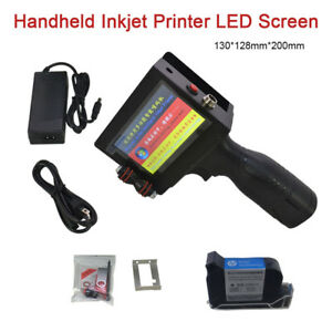 Handheld Inkjet Printer Ink Coding Machine Led Touch Screen Date Coder