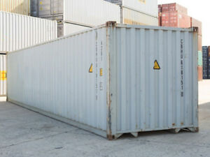 40ft High Cube 9 6 High Shipping Container Cargo worthy Chicago Il