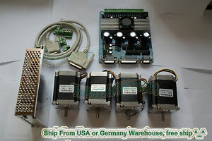 4axis Nema 23 Stepper Motor 270oz in 3 0a Driver Cnc Ship Worldwide Trackable