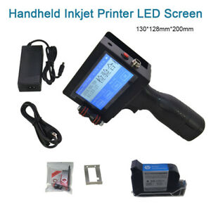 Updated Date Coder Handheld Inkjet Printer Led Touch Screen Ink Coding Machine