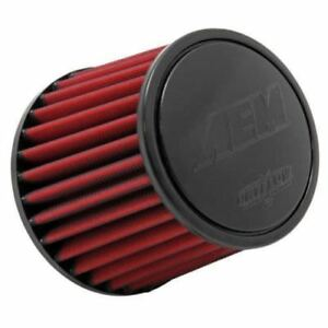 Aem Universal 3 5 X 5 Dryflow Brute Off Road Short Neck Red Air Filter Element