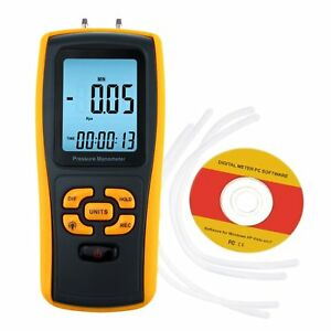 Digital Manometer Differential Air Pressure Gauge 11 Units With Usb Interface