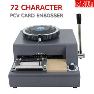 72 Character Letter Manual Embosser Pvc Stamping Card Embossing Machine us Ship
