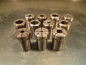 11 Pieces Of Assorted Da 180 Round Collets Used In Good Condition
