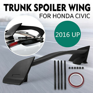 For 16 up Honda Civic Hatchback Type R Style Abs Plastic Rear Trunk Wing Spoiler