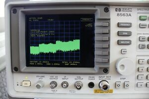 Hp Agilent 8563a Ec Spectrum Analyzer 9 Khz To 26 Ghz Lcd Display Calibrated