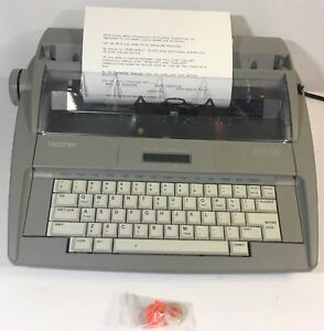 Brother Sx 4000 Electronic Typewriter lcd Display dictionary correction