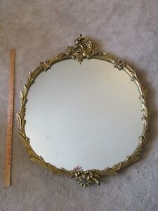 Beautiful Large Louis Xvi French Style Gilt Wood Frame Antique Console Mirror 3