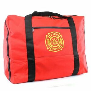 Thefirestore Exclusive Firefighter Turnout Gear Bag Red