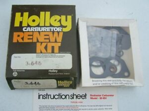 Holley 3 646 Rochester 1bbl M Mv Monojet Carburetor Rebuild Kit