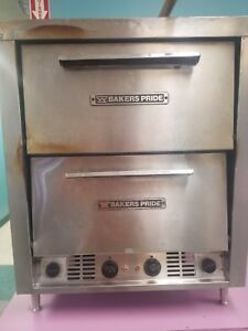 Bakers Pride P44 Electric Pizza Pretzel Two Compartment Oven Used