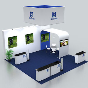 20ft Portable Custom Fabric Waveline Trade Show Displays Booth Exhibits Kit 6