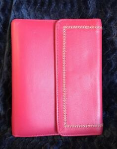 Classic Full Grain Leather Pink Franklin Covey Planner Jean Chatzky Euc