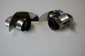 Porsche 911 993 Chrome Exhaust Tail Pipe Tips Right Left Bischoff Brand Nice