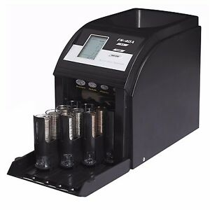 New Electric Coin Sorter 4 Row Digital Currency Counting Machine Royal Sovereign