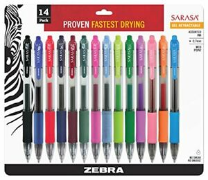 Zebra Sarasa Retractable Gel Ink Pens Medium Point 0 7mm Assorted Color Rap