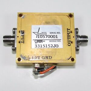 Quinstar Qmm 3315152j0 26 5 40ghz Frequency Doubler yh 493 Ship By Express