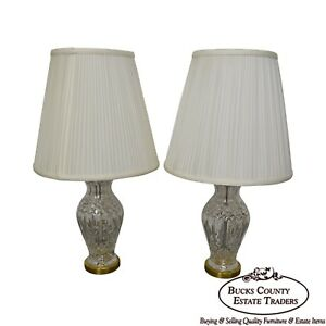 Waterford Wedgwood Pair Of Crystal Table Lamps