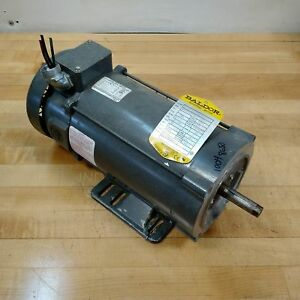 Baldor Cdp3445 Dc Electric Motor Hp 1 Rpm 1750 90vdc 10 Amp Frame 56c Used