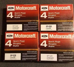 Set Of 16 Genuine Ford Motorcraft Double Platinum Spark Plugs Sp526 Cyfs12fp