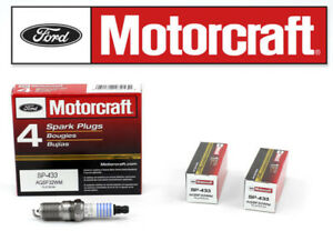 Set Of 6 Genuine Ford Motorcraft Platinum Spark Plugs Sp 433 Agsf32wm