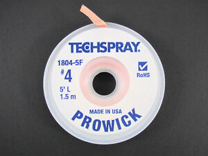 prowick Solder Wick 4 5 Braid Techspray 1804 5f Made In The Usa