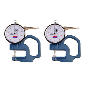 2x 0 10mm Dial Thickness Gauge Leather Cloth Paper Film Thickness Meter 0 01mm