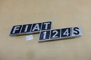 Classic Fiat 124 S Rear Badge Emblem Logo Nos Genuine