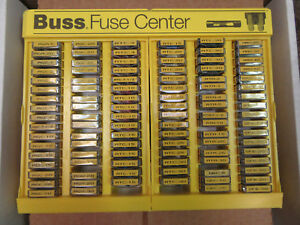 Bussmann No 500 Glass Tube Blade Type Fuse Assortment Display 480 Fuses