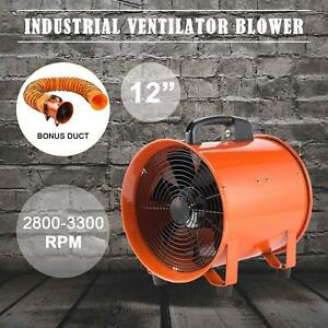 12 Extractor Fan Blower Ventilator 5m Duct Hose Industrial Ventilation Local