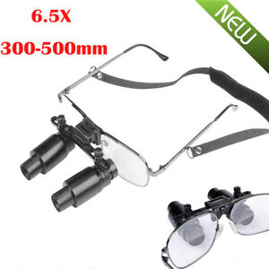 Dental Loupes 6 5x 300 500mm Medical Surgical Glasses Loupe Lens Magnifier case