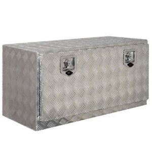 Truck Tool Box Aluminum 36 Lockable Pickup Underbed Trailer Atv Tongue Storage