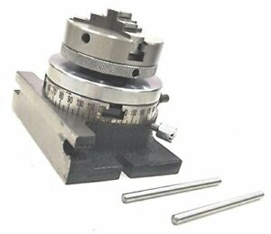 3 80 Mm Small Rotary Table 65 Mm 3 Jaw Chuck Back Plate 65mm 3 Jaw Centering