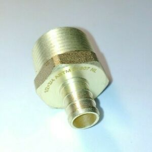 Lot Of 25 1 2 Pex X 3 4 Male Mpt Adapter Threaded Brass Fittings
