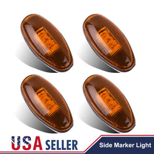 4x For 99 12 Chevy Gmc Led Front Rear Dually Bed Led Side Fender Marker Lights