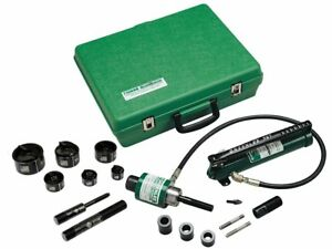 Greenlee 7306sb Ram Hand Pump Hydraulic Driver Kit With 6 Slug Buster Punches