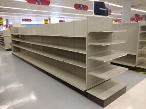 Lozier Gondola Store Shelving 4 Island Section no Shipping pick Up Only