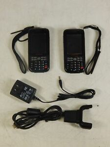 Lot Of 2x Honeywell Dolphin 6000 Mobile Scanner Barcode Reader W 1x Charger