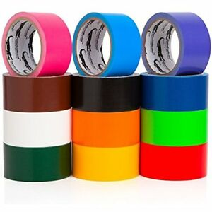Multi Colored Duct Tape Variety Pack 12 Colors 10 Yards X Inch Rolls Girls Fun