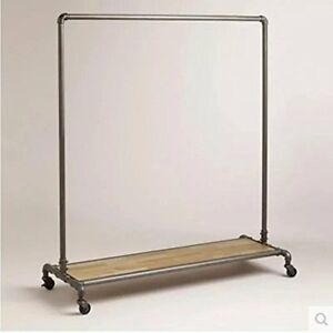 Wgx Design You Industrial Pipe Clothing Rack Garment Pipeline Vintage Closet