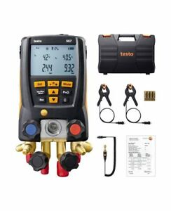 Testo 557 Refrigeration Digital Manifold Kit 0563 1557 With 2pcs Clamp Probes